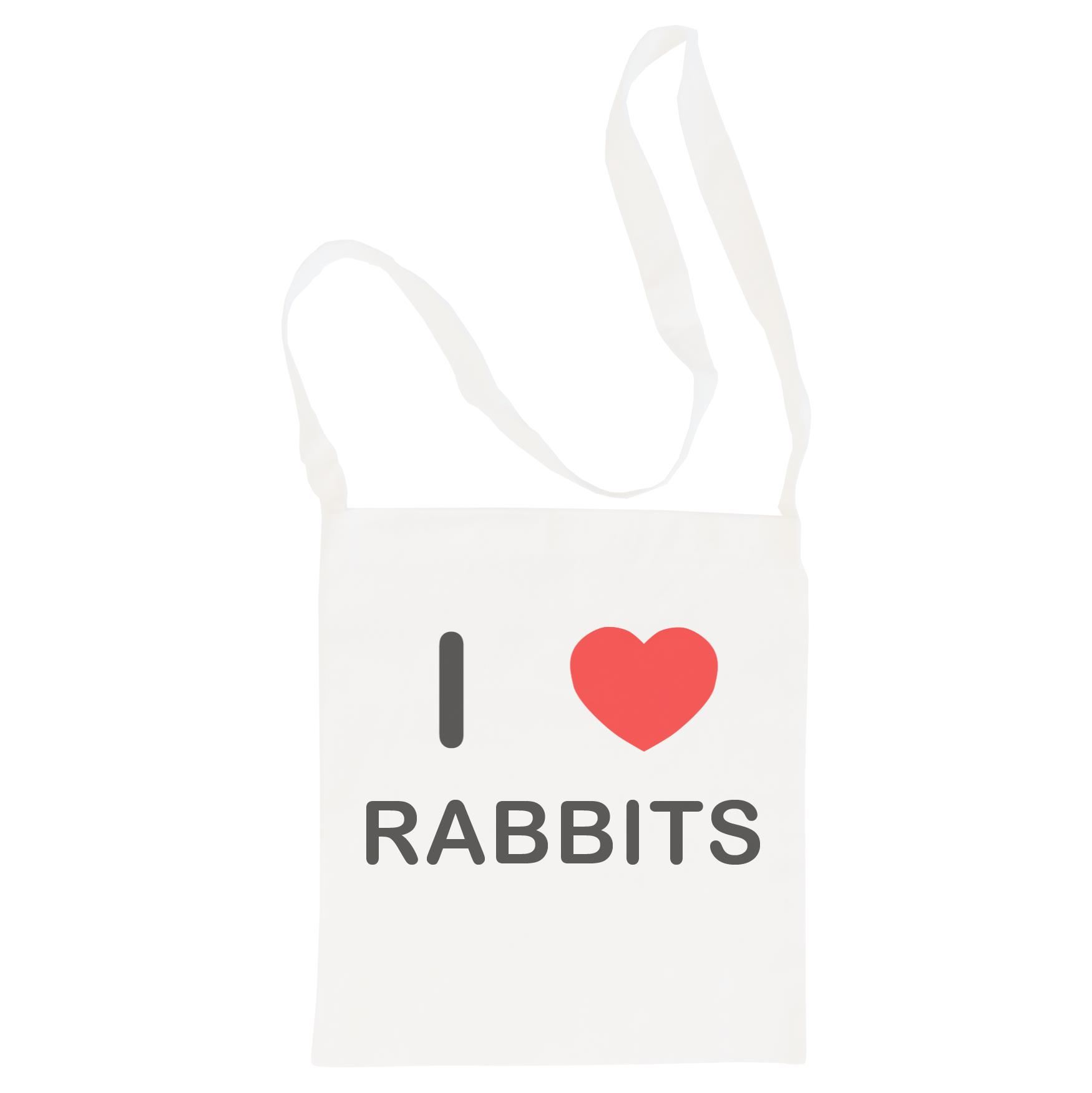 I Love Rabbits - Cotton Bag | Size choice Tote, Shopper or Sling