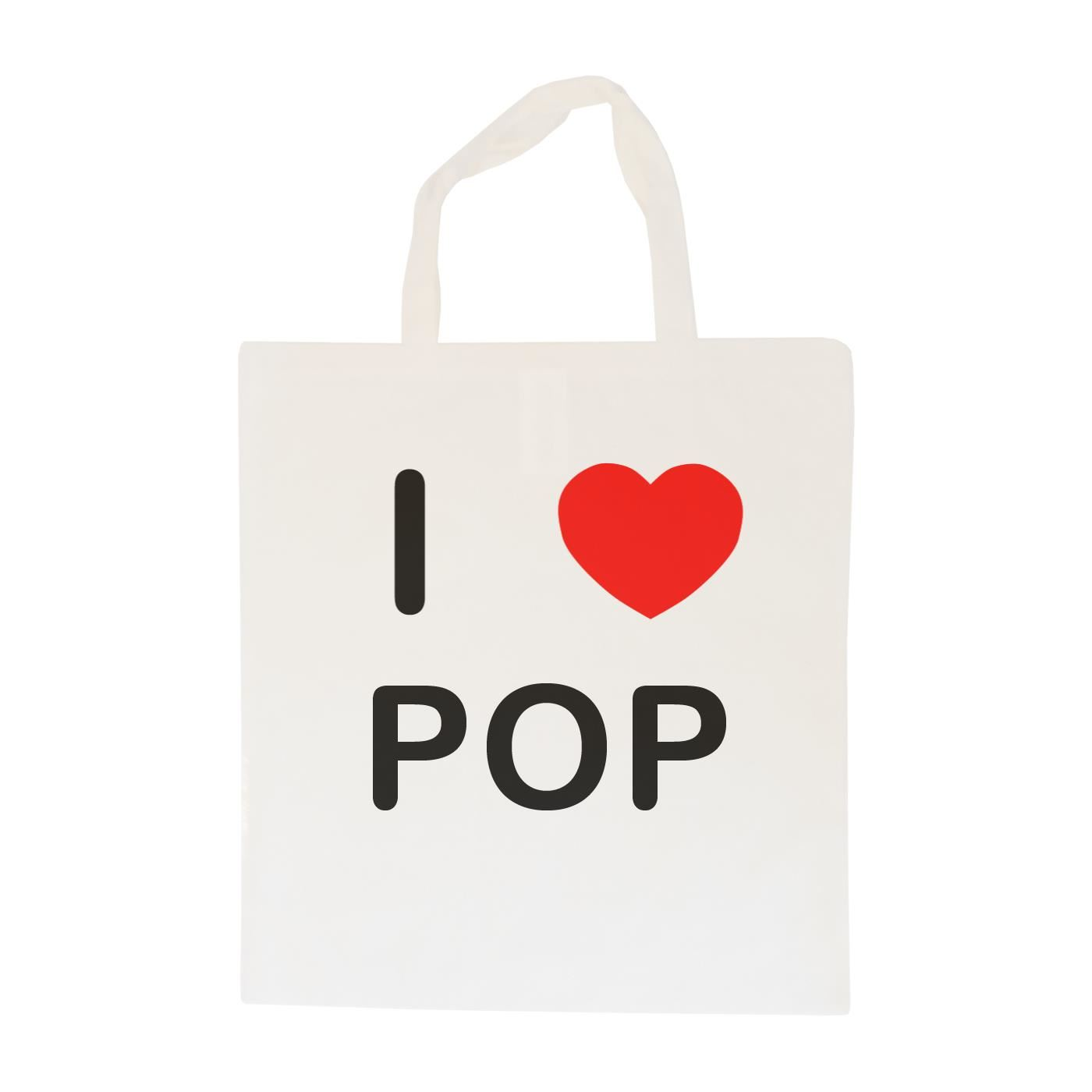 I Love Pop - Cotton Bag | Size choice Tote, Shopper or Sling