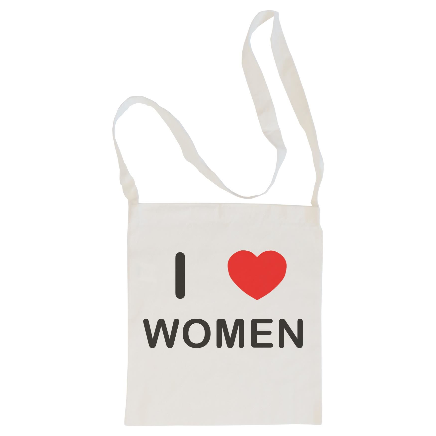 I Love Women - Cotton Bag | Size choice Tote, Shopper or Sling