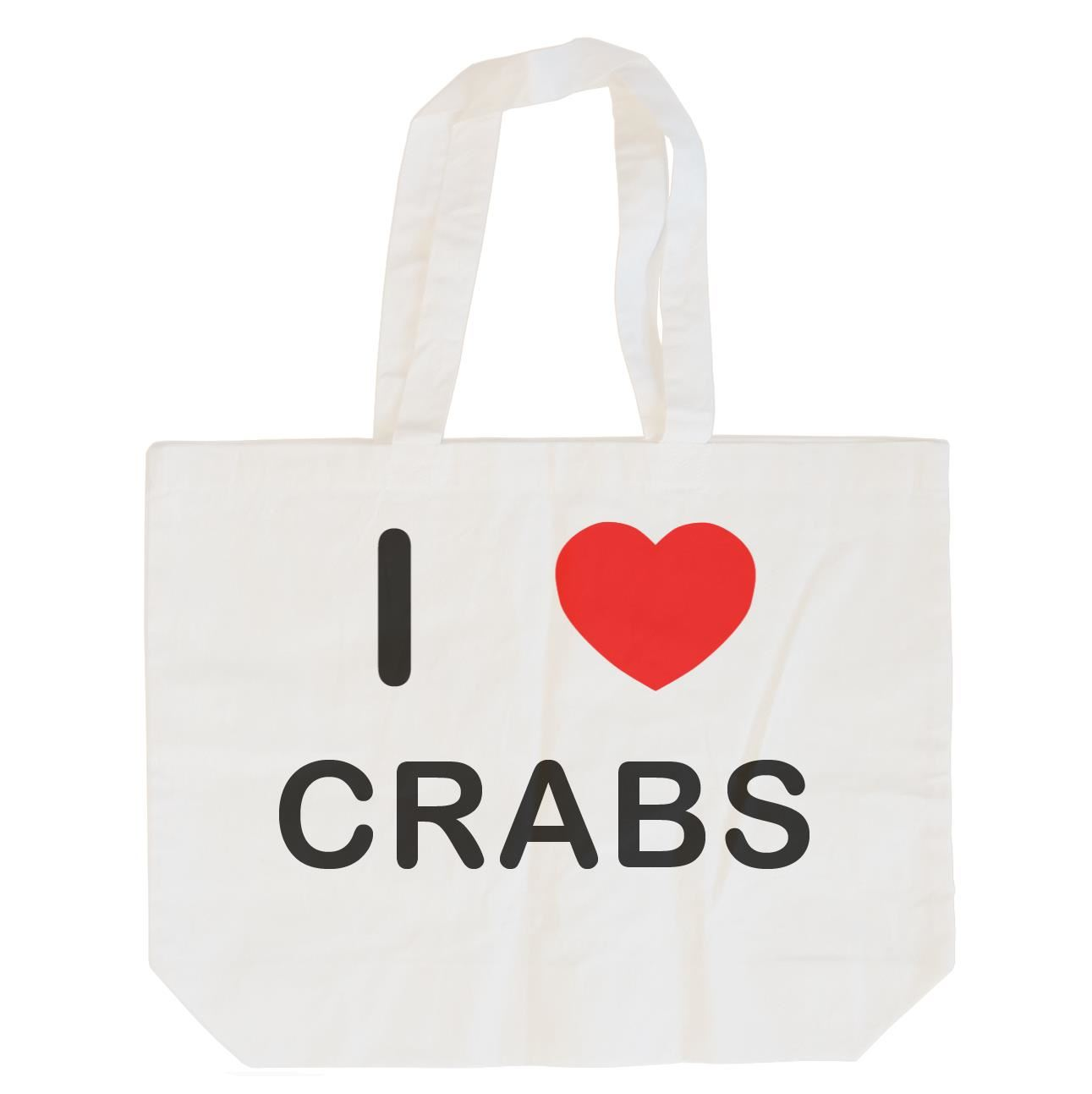 I Love Crabs - Cotton Bag | Size choice Tote, Shopper or Sling