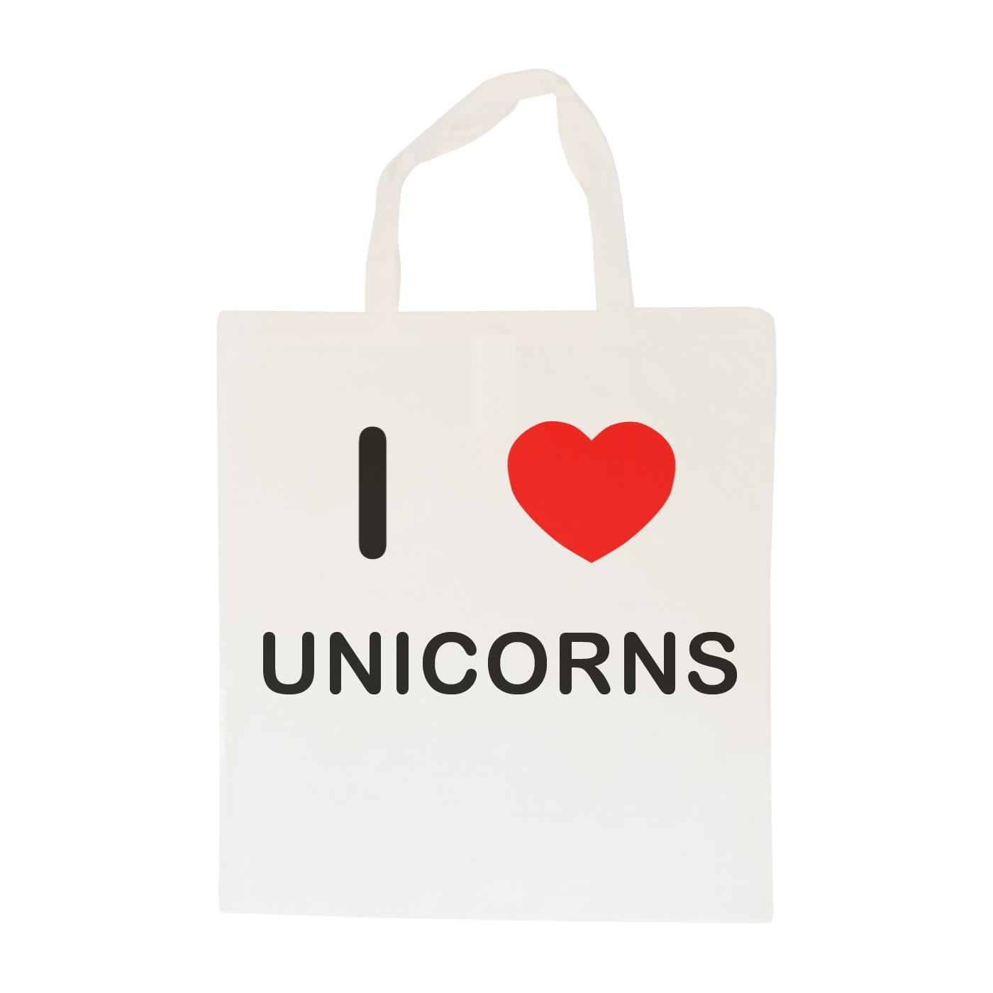 I Love Unicorns - Cotton Bag | Size choice Tote, Shopper or Sling
