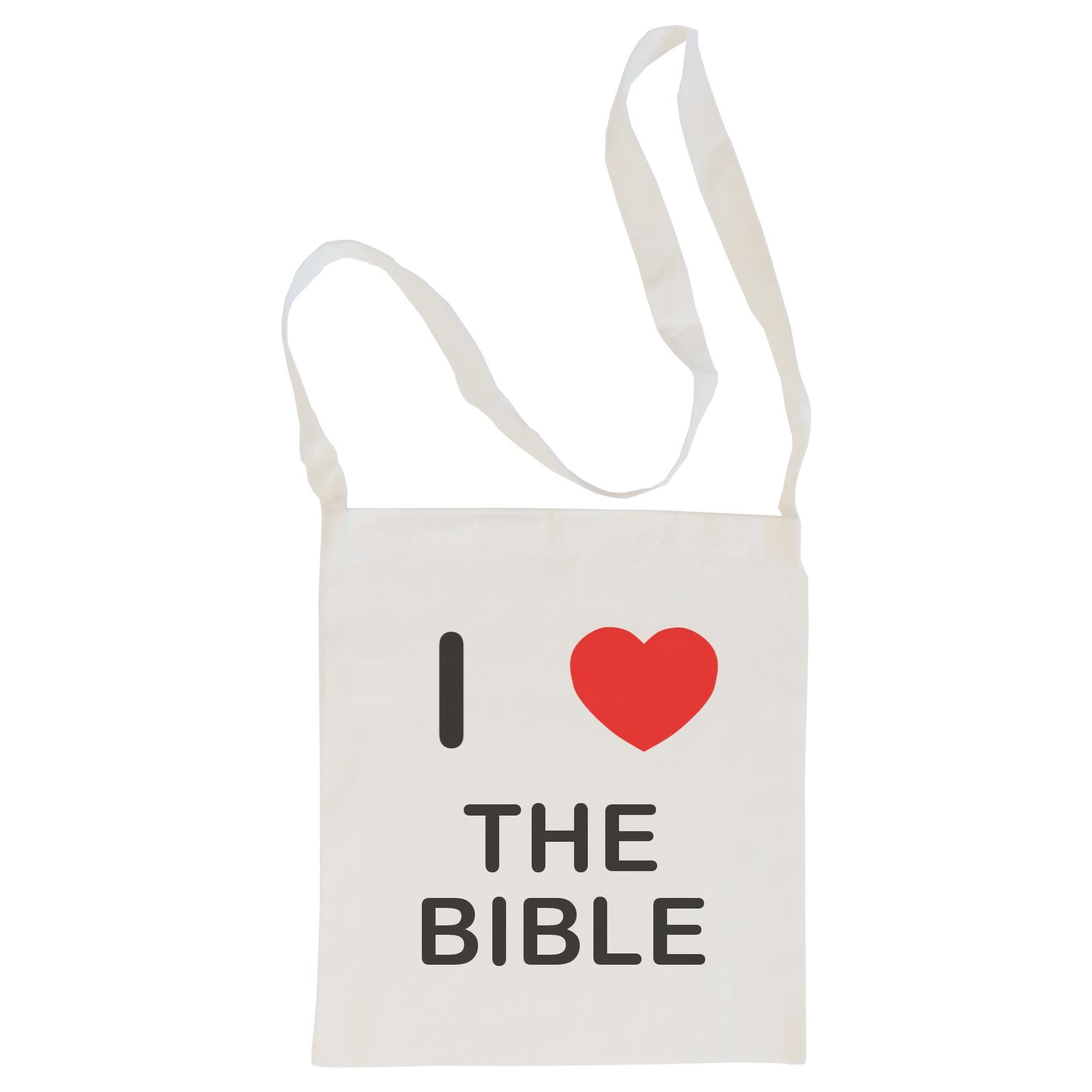 I Love The Bible - Cotton Bag | Size choice Tote, Shopper or Sling