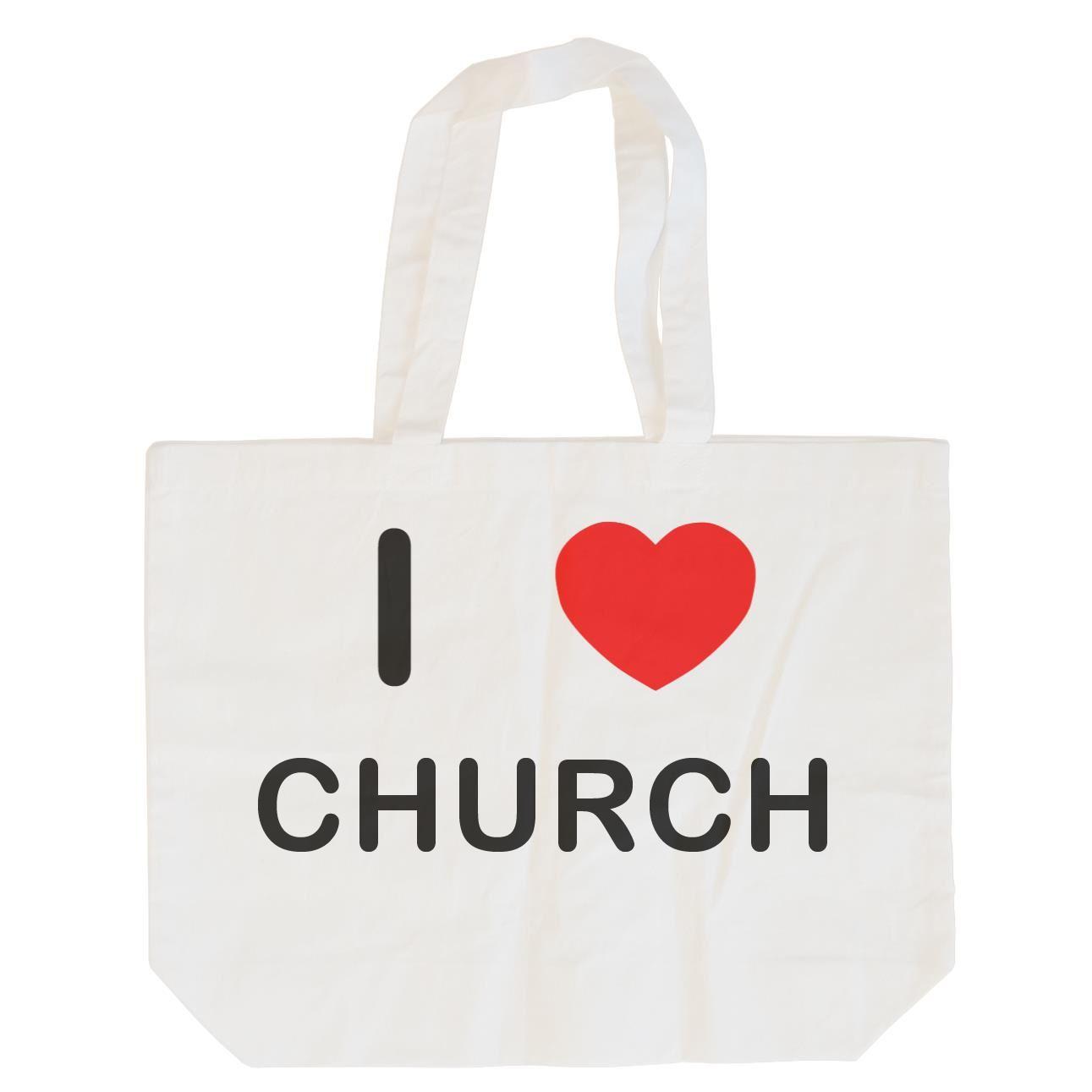 I Love Church - Cotton Bag | Size choice Tote, Shopper or Sling