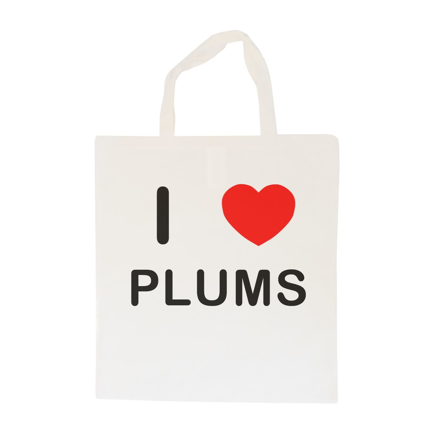 I Love Plums - Cotton Bag   Size choice Tote, Shopper or Sling
