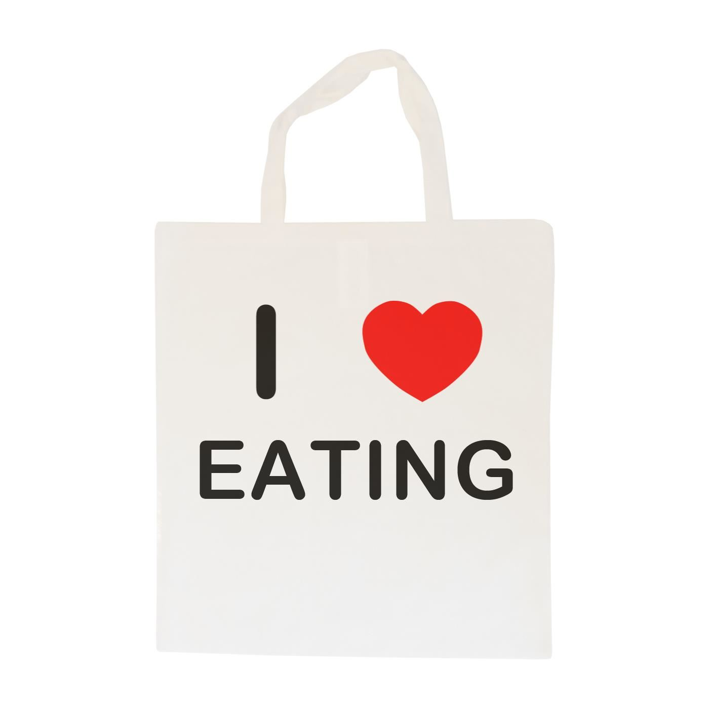 I Love Eating - Cotton Bag | Size choice Tote, Shopper or Sling