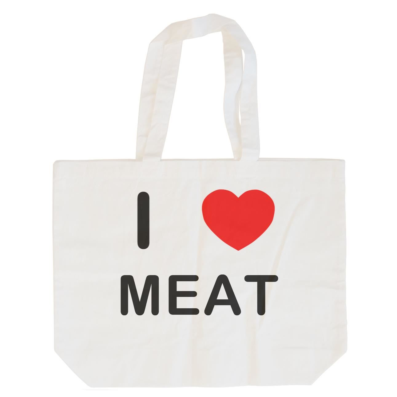 I Love Meat - Cotton Bag | Size choice Tote, Shopper or Sling
