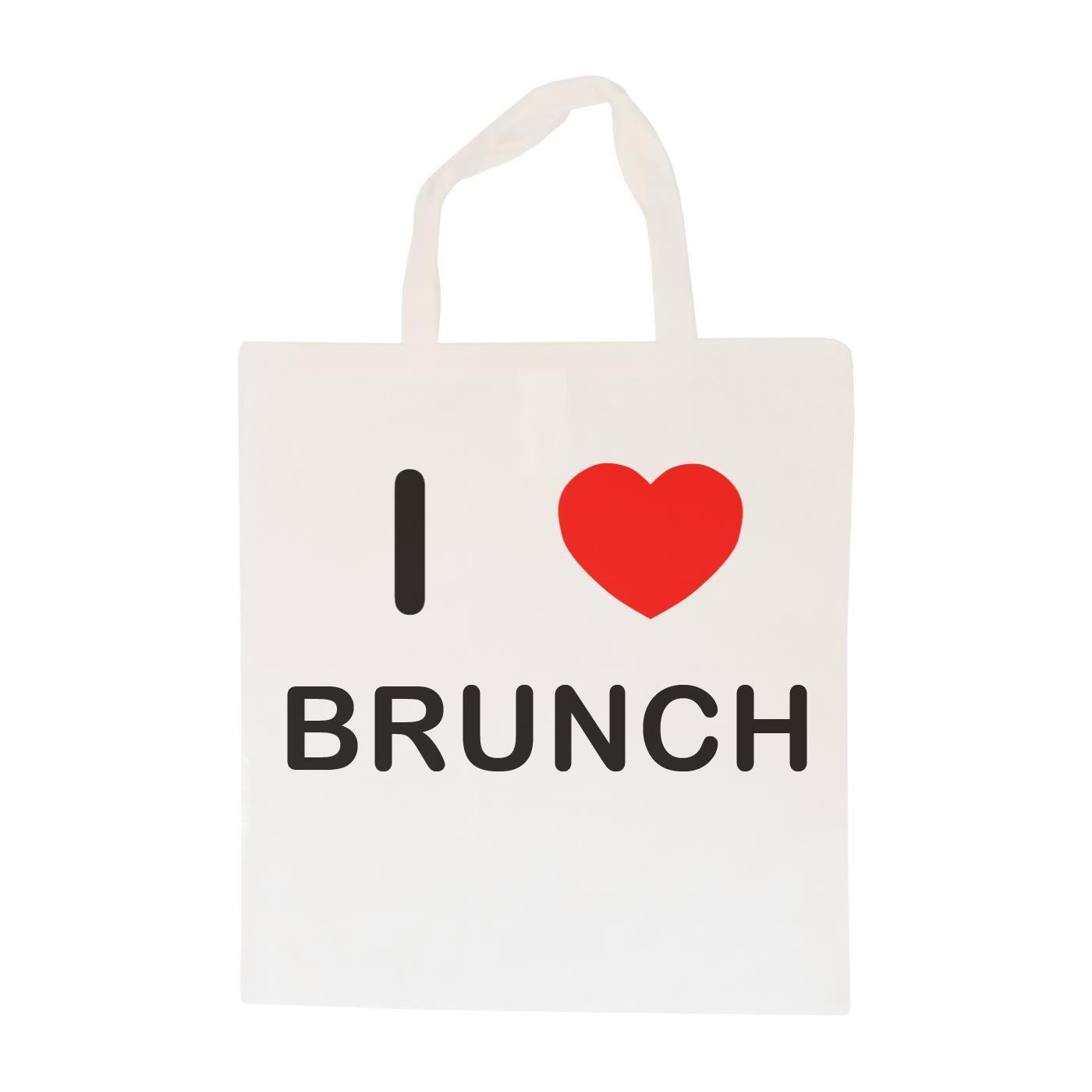 I Love Brunch - Cotton Bag | Size choice Tote, Shopper or Sling