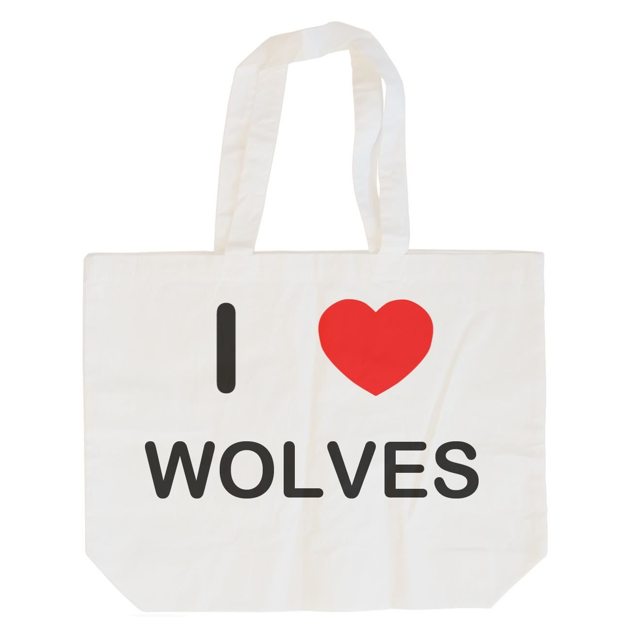 I Love Wolves - Cotton Bag | Size choice Tote, Shopper or Sling