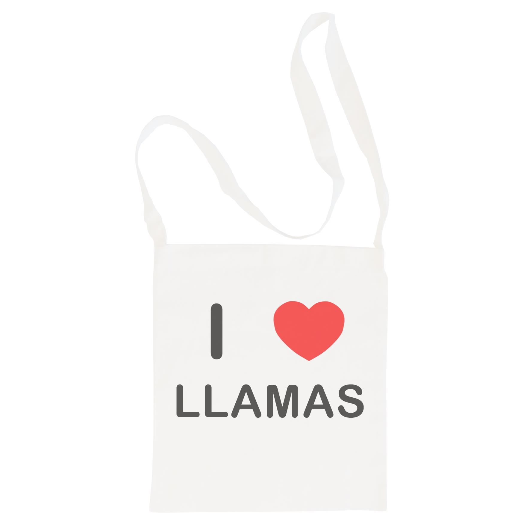I Love Llamas - Cotton Bag | Size choice Tote, Shopper or Sling