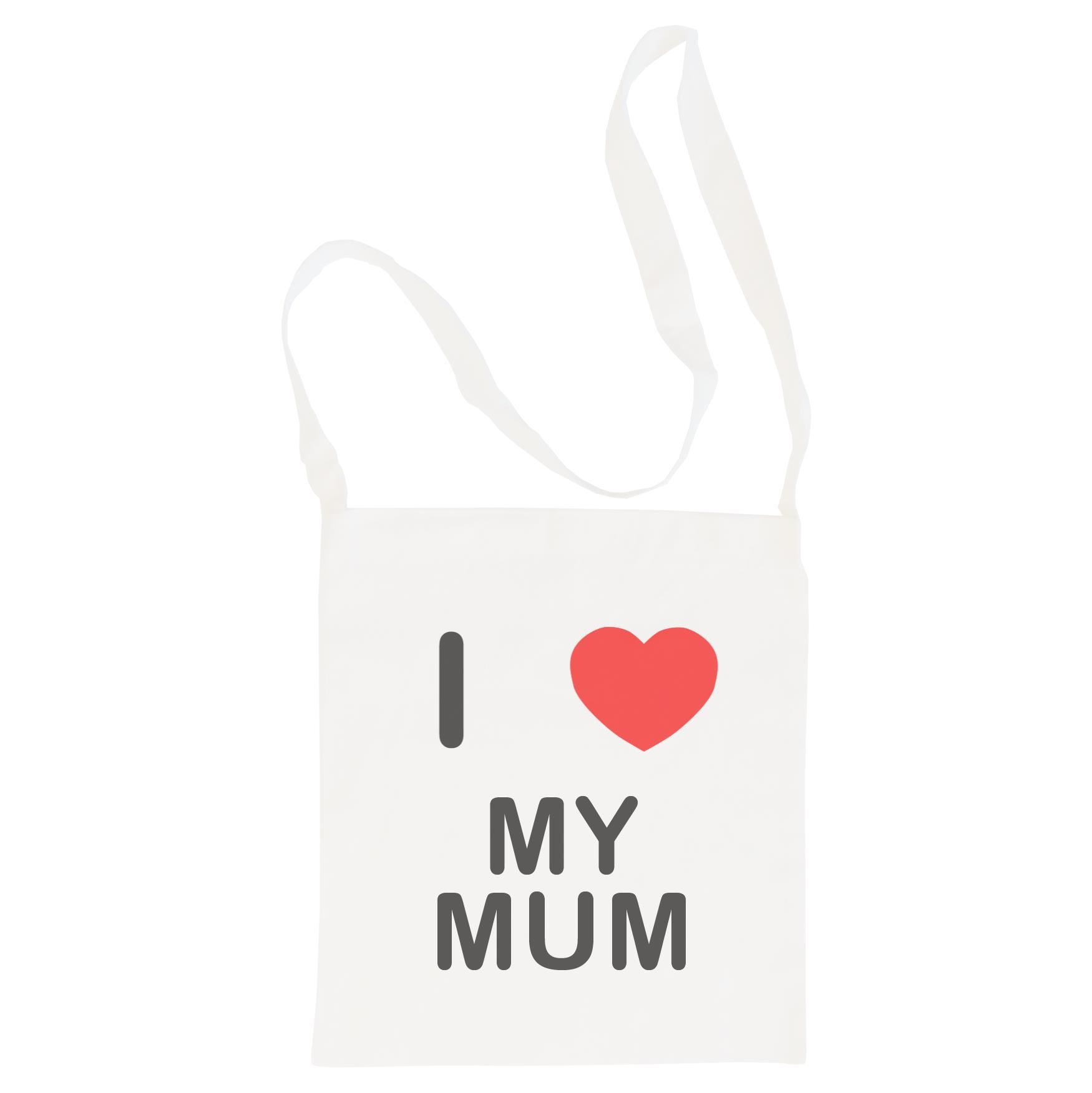 I Love My Mum - Cotton Bag | Size choice Tote, Shopper or Sling