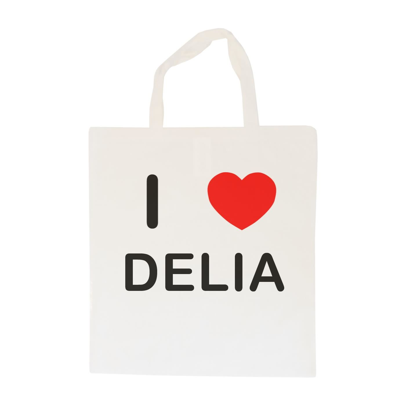 I Love Delia - Cotton Bag | Size choice Tote, Shopper or Sling