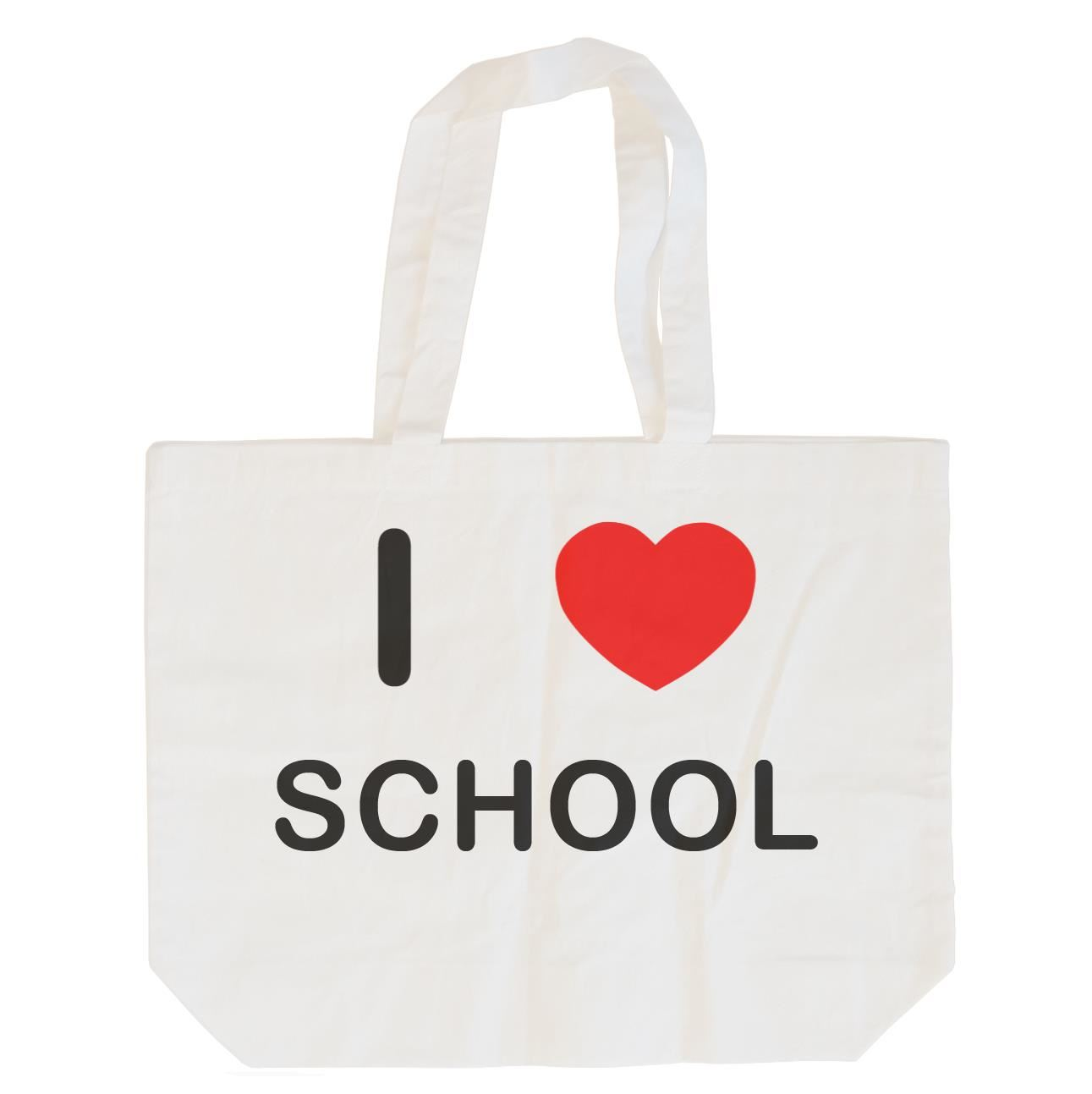I Love School - Cotton Bag | Size choice Tote, Shopper or Sling