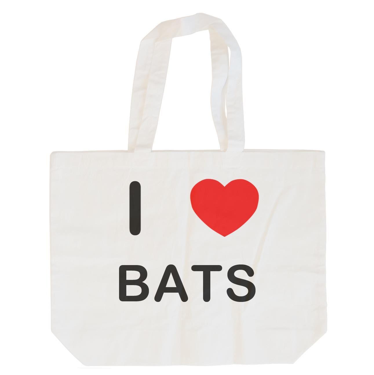 I Love Bats - Cotton Bag | Size choice Tote, Shopper or Sling