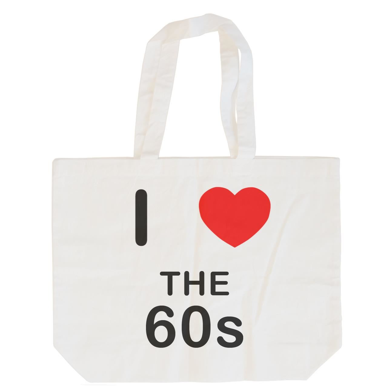 I Love The 60's - Cotton Bag | Size choice Tote, Shopper or Sling