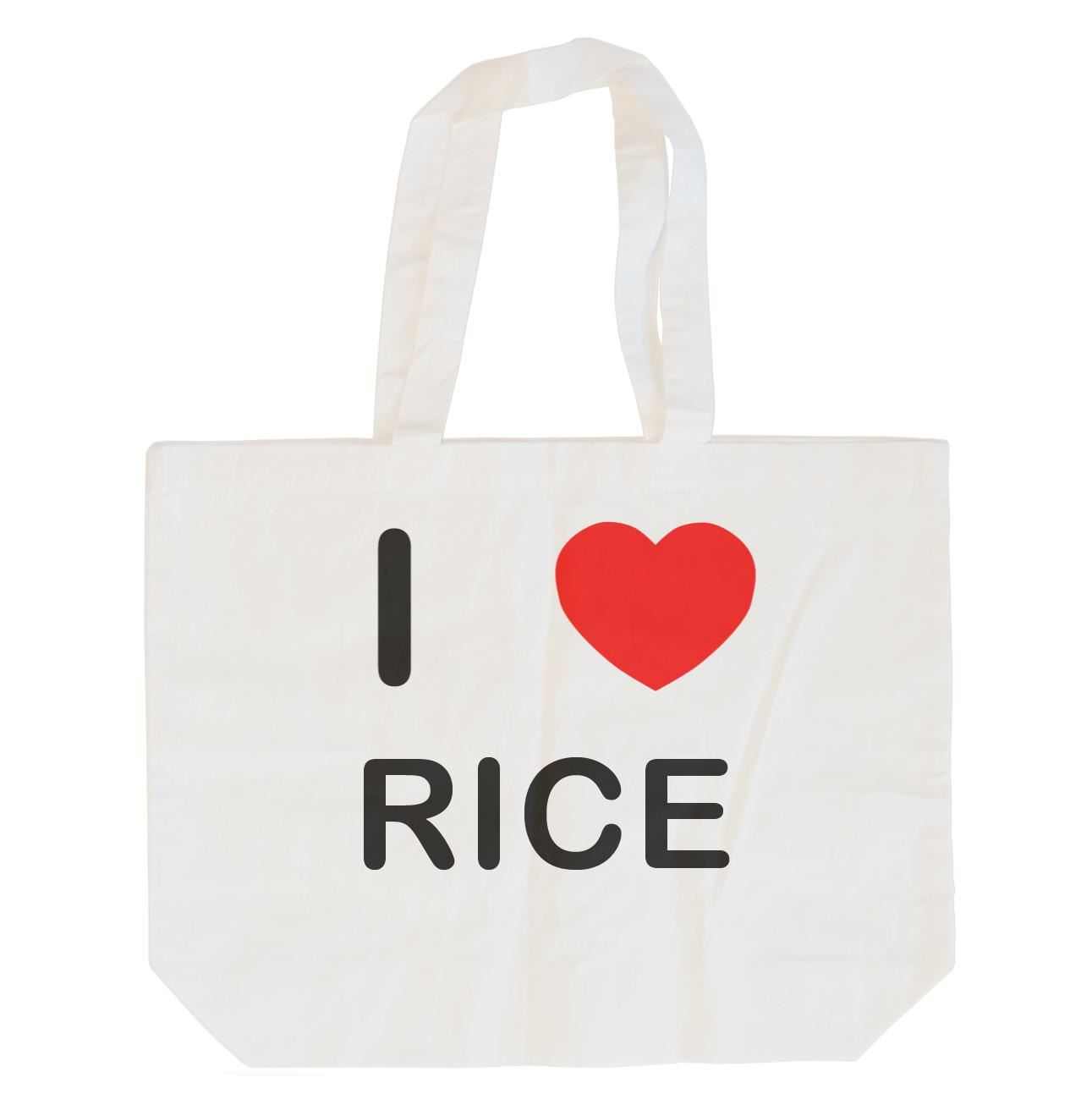I Love Rice - Cotton Bag | Size choice Tote, Shopper or Sling