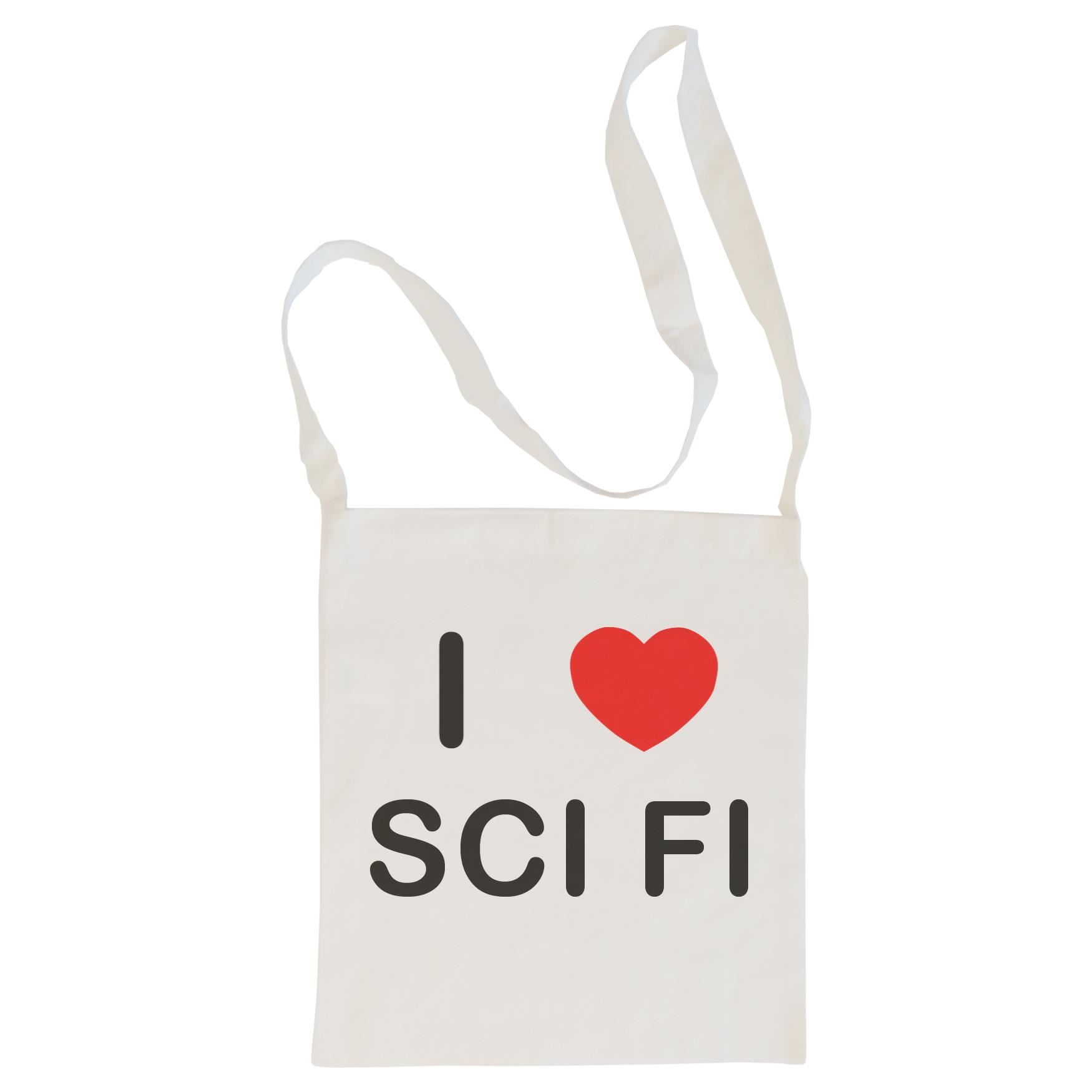 I Love Sci Fi - Cotton Bag | Size choice Tote, Shopper or Sling