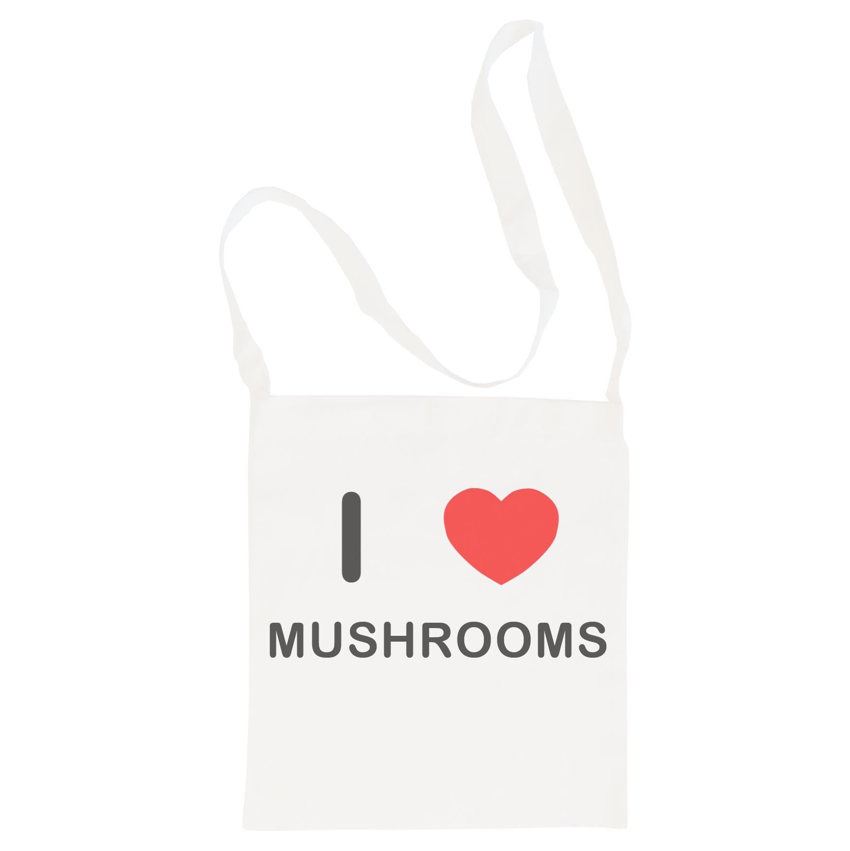 I Love Mushrooms - Cotton Bag | Size choice Tote, Shopper or Sling