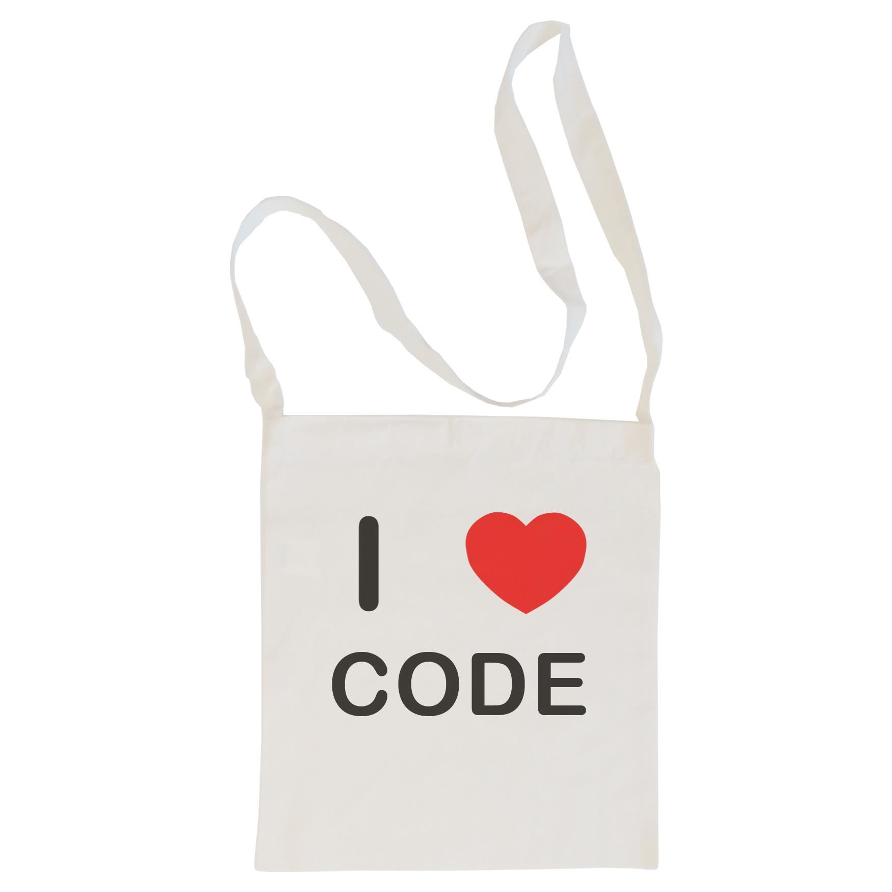 I Love Code - Cotton Bag | Size choice Tote, Shopper or Sling