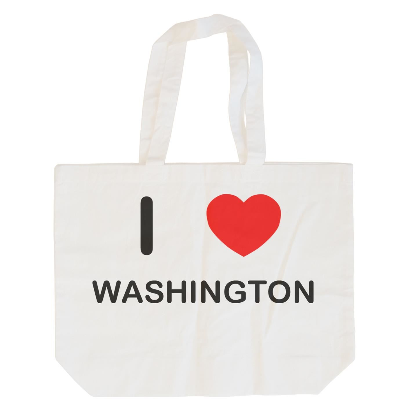 I Love Washington - Cotton Bag | Size choice Tote, Shopper or Sling