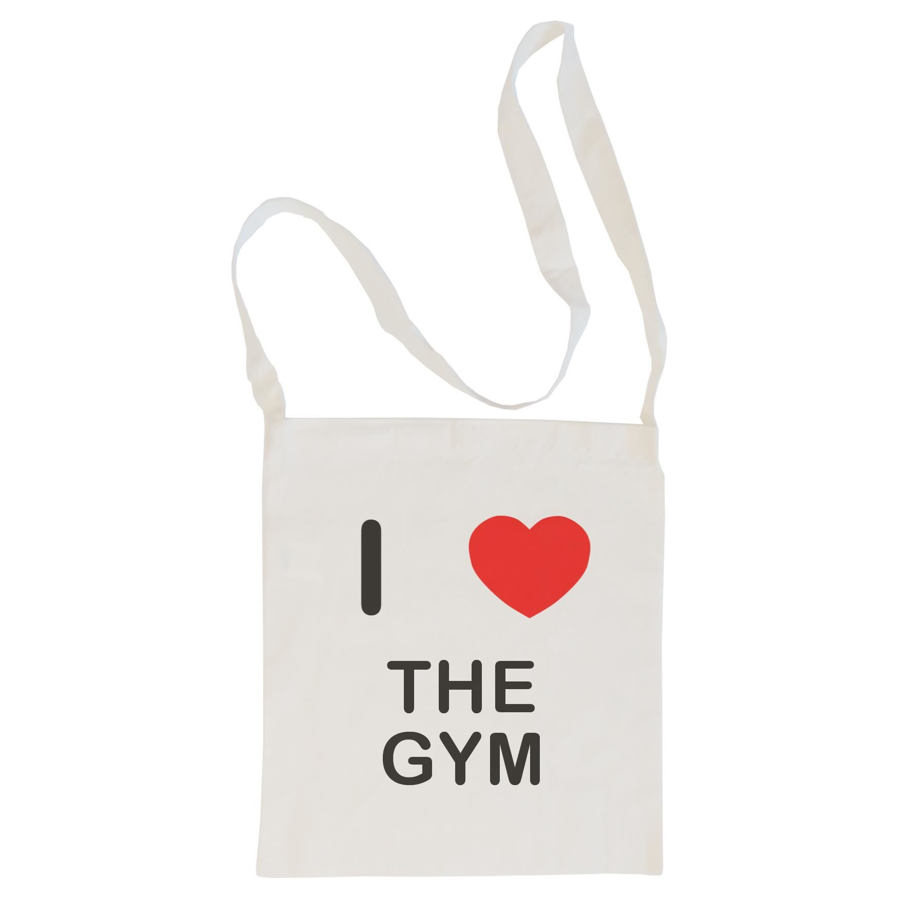 I Love The Gym - Cotton Bag | Size choice Tote, Shopper or Sling