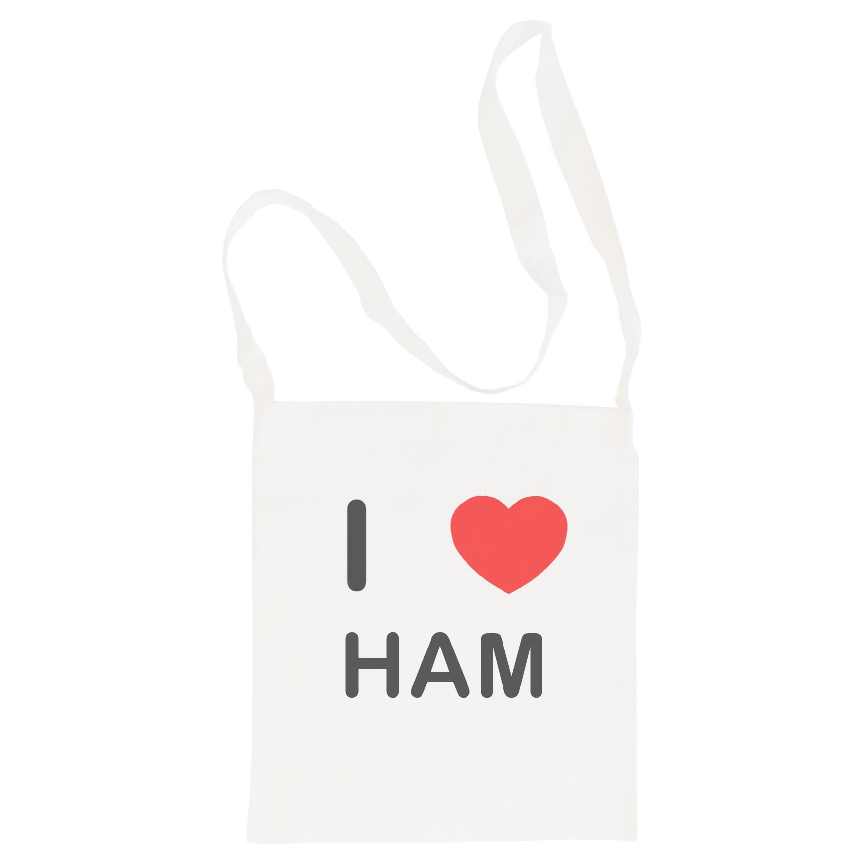 I Love Ham - Cotton Bag | Size choice Tote, Shopper or Sling