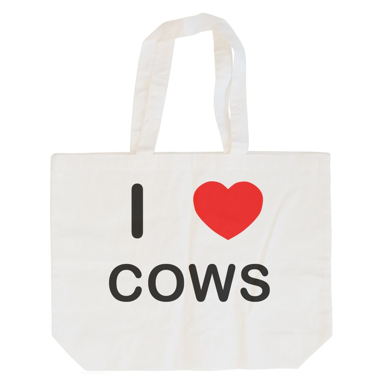 I Love Cows - Cotton Bag | Size choice Tote, Shopper or Sling