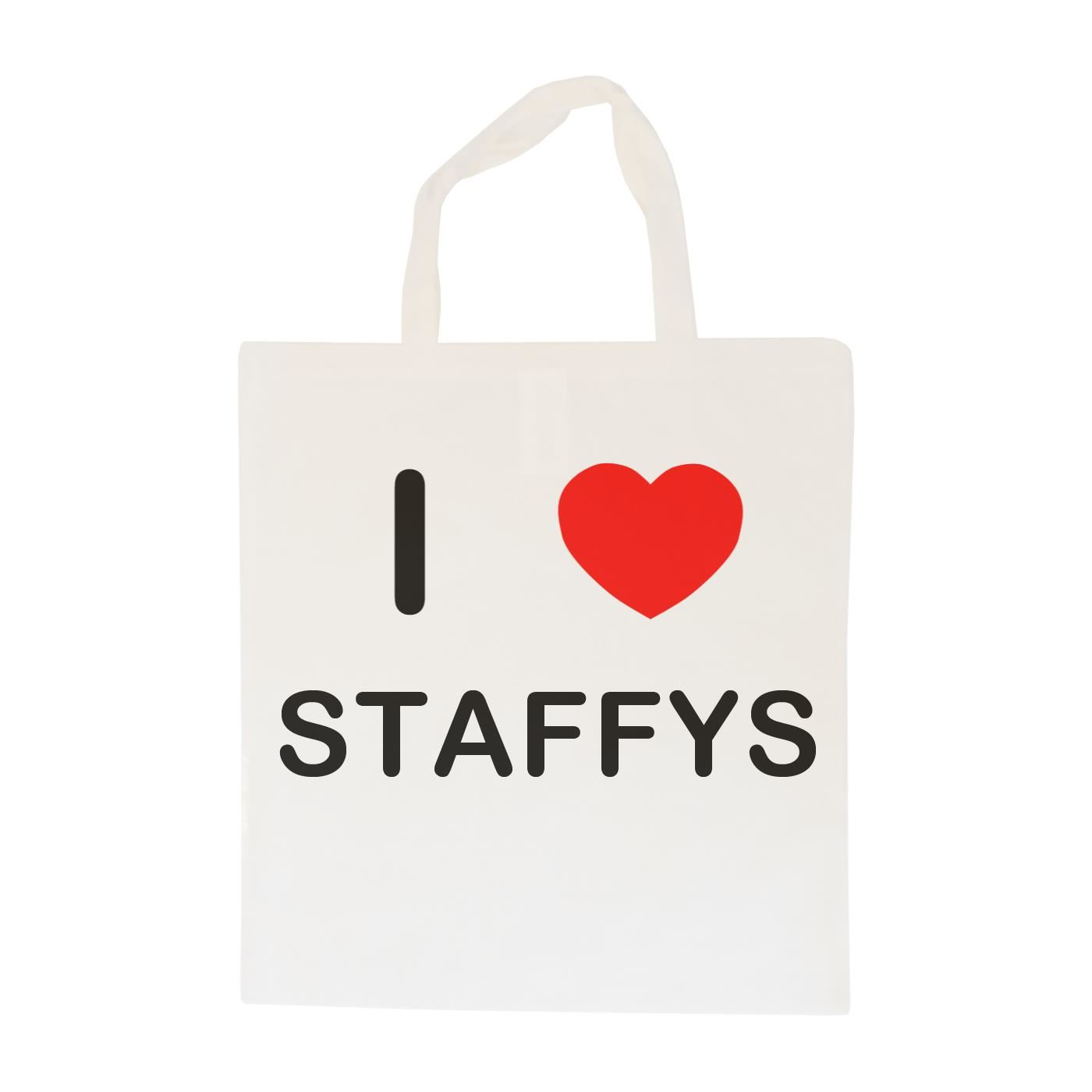 I Love Staffys - Cotton Bag | Size choice Tote, Shopper or Sling