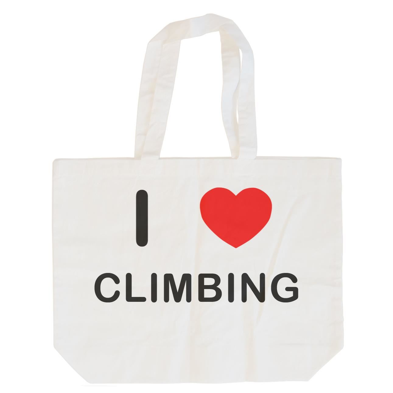I Love Climbing - Cotton Bag | Size choice Tote, Shopper or Sling
