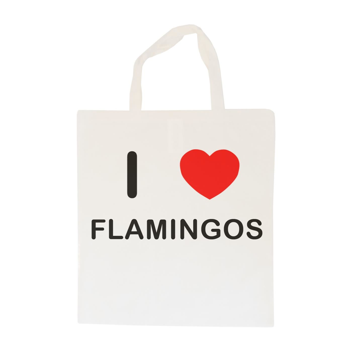I Love Flamingos - Cotton Bag | Size choice Tote, Shopper or Sling