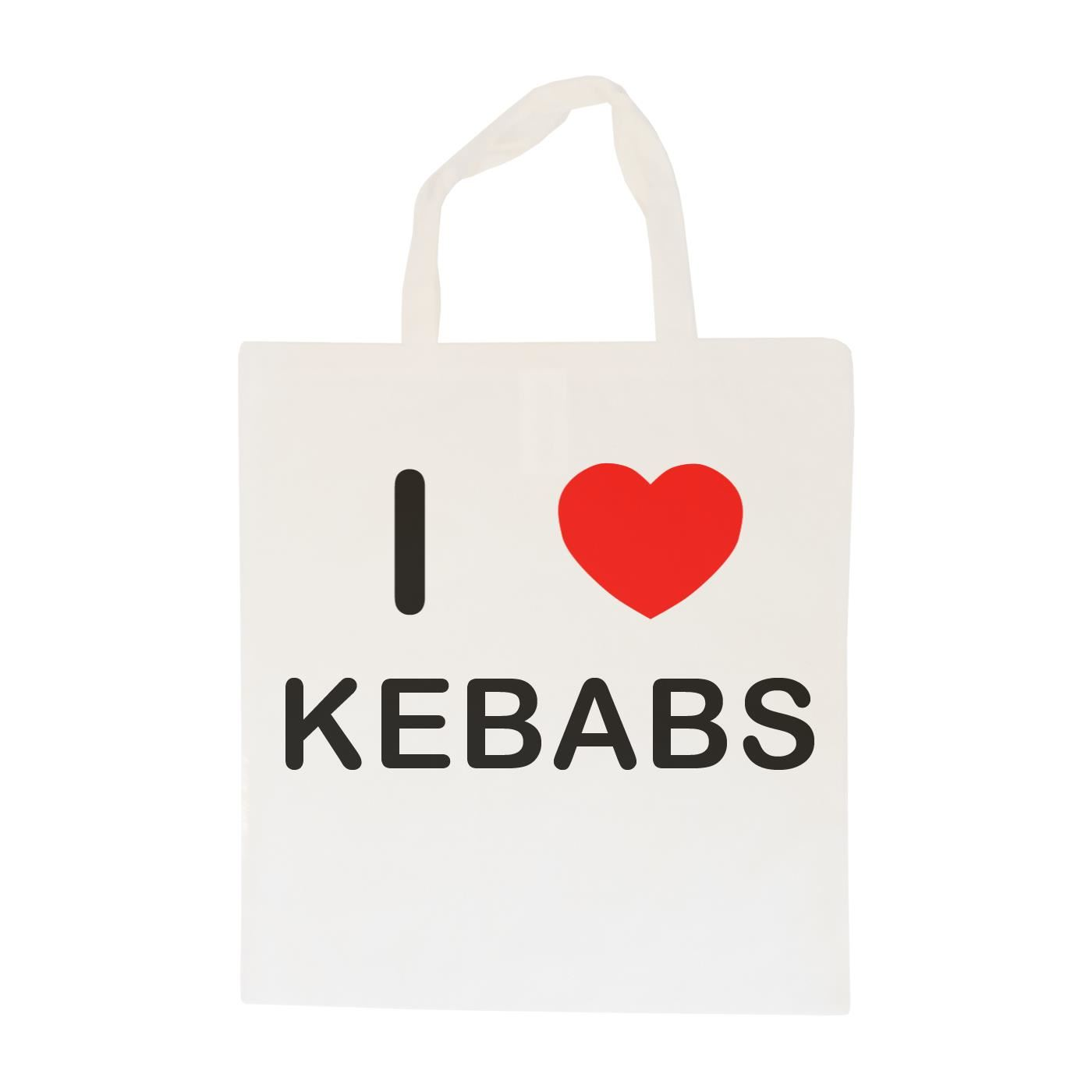 I Love Kebabs - Cotton Bag | Size choice Tote, Shopper or Sling