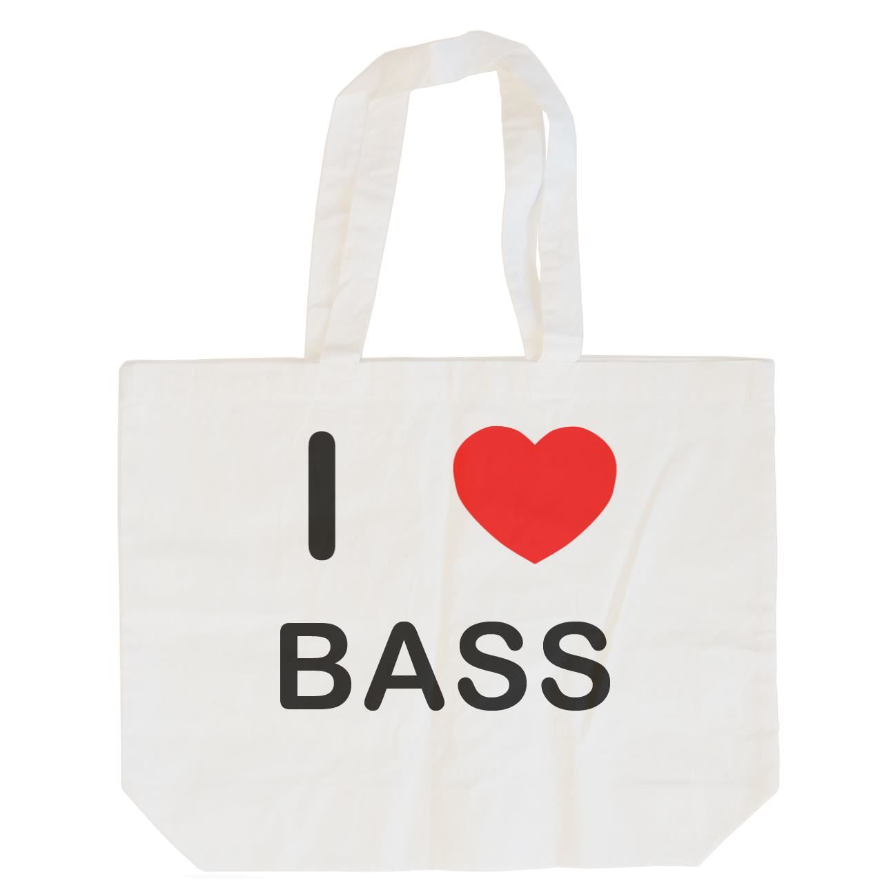 I Love Bass - Cotton Bag | Size choice Tote, Shopper or Sling