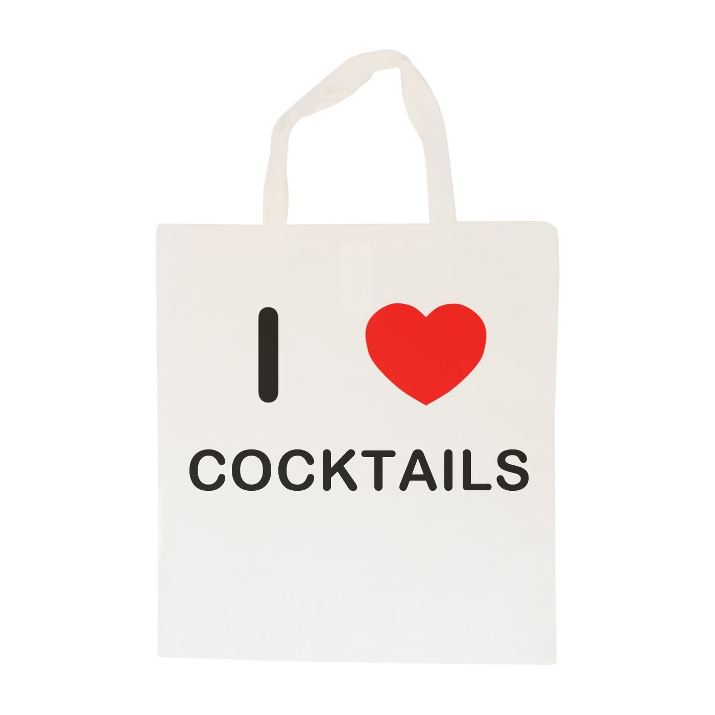 I Love Cocktails - Cotton Bag | Size choice Tote, Shopper or Sling