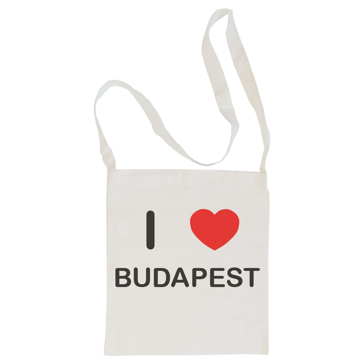 I Love Budapest - Cotton Bag | Size choice Tote, Shopper or Sling