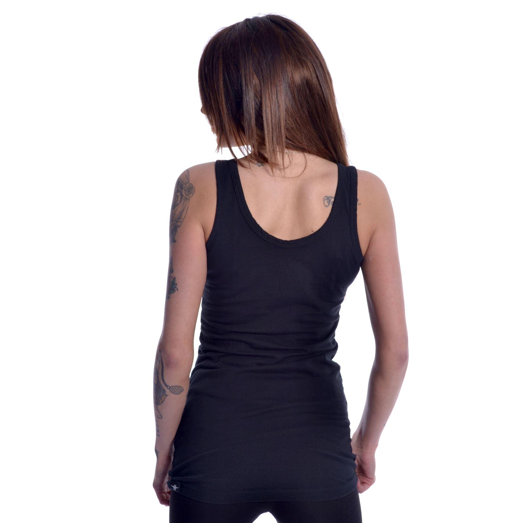 Heartless Death Mermaid Vest Ladies Black Goth Emo Punk