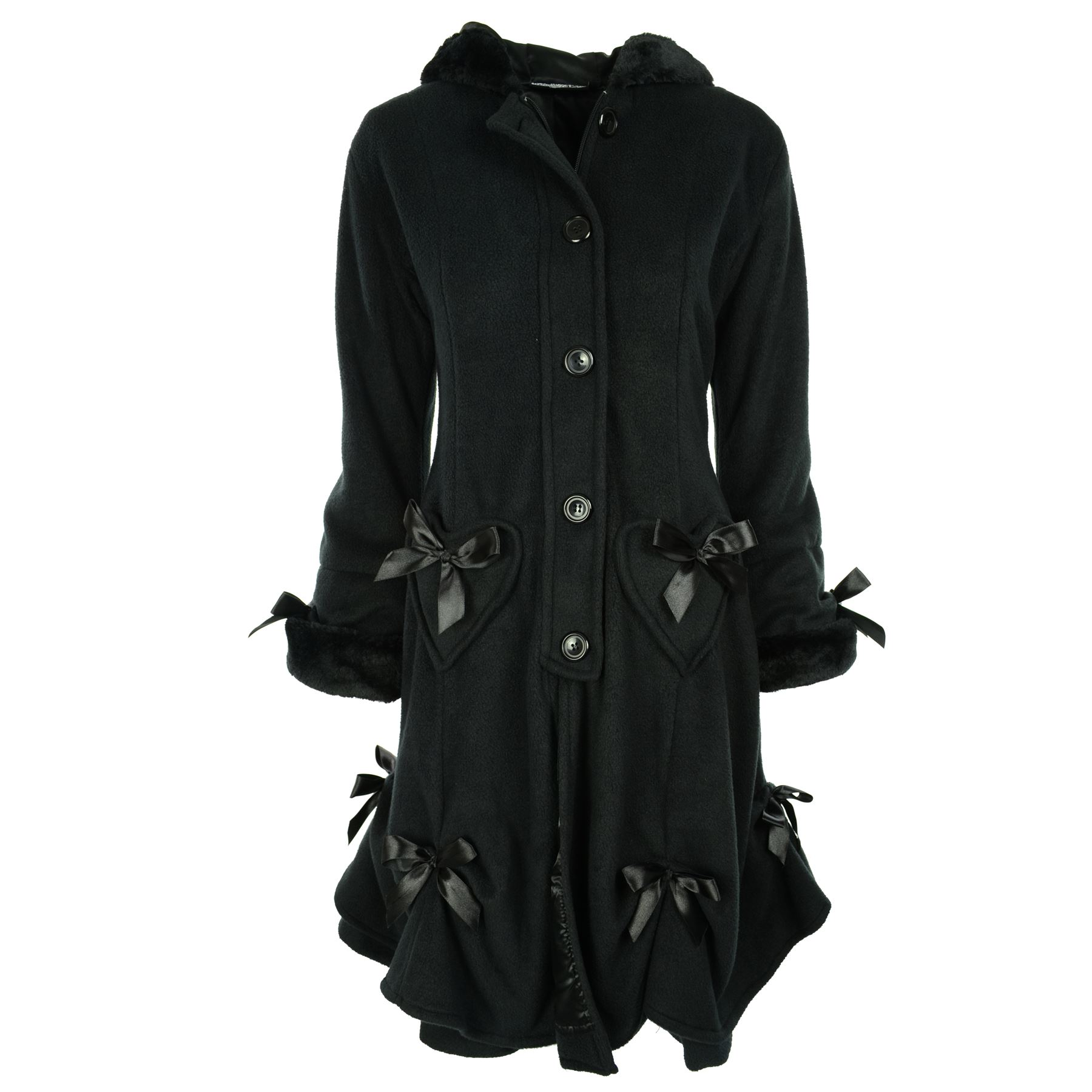 8f36641aa Poizen Industries Alice Coat Women Goth Punk Emo Winter Gothic Cosy ...