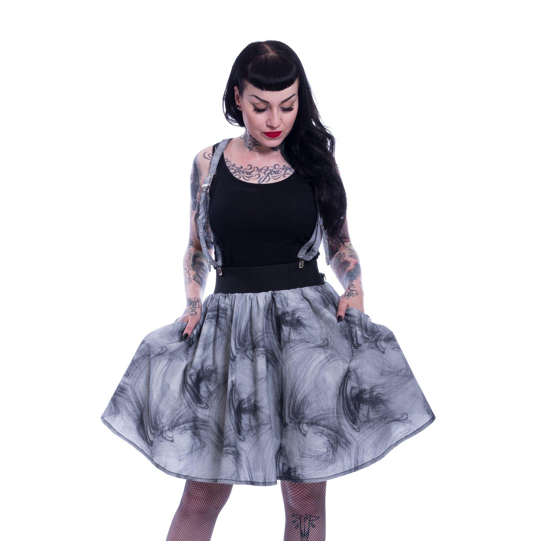Vixxsin Marianne Skirt Ladies Black Goth Emo Punk