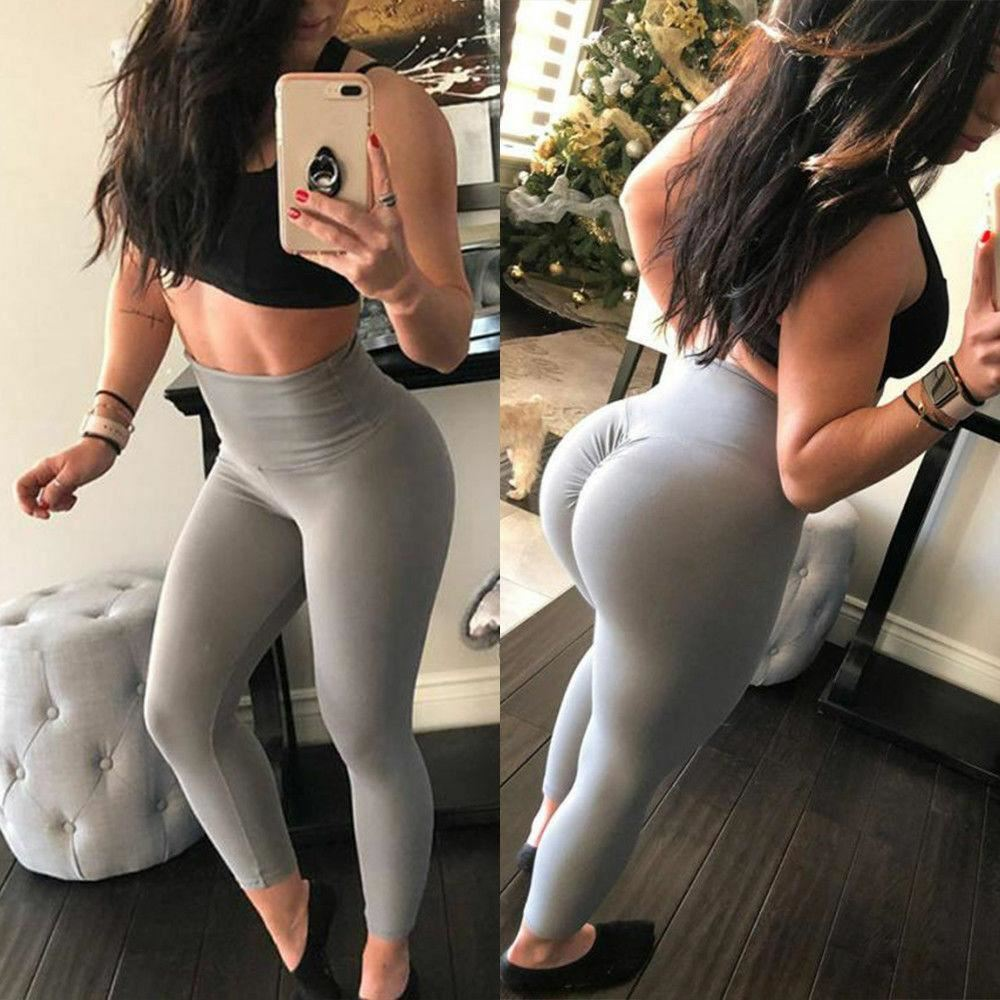 Womens-Butt-Lift-Yoga-Pants-Sports-Fitness-Scrunch-Push-Up-Activewear-Leggings thumbnail 61