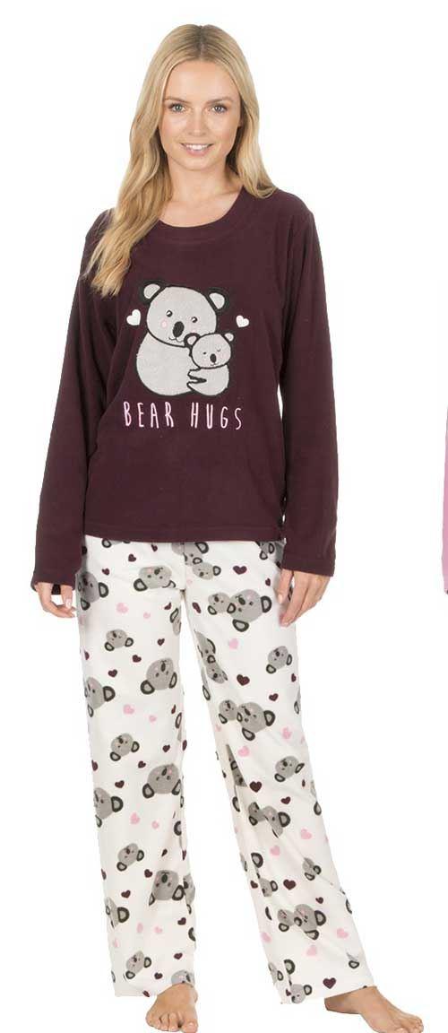 ca9bb8ad8af6 Ladies Womens Pyjamas PJ Set Long Sleeve Top Loungewear Nightwear ...