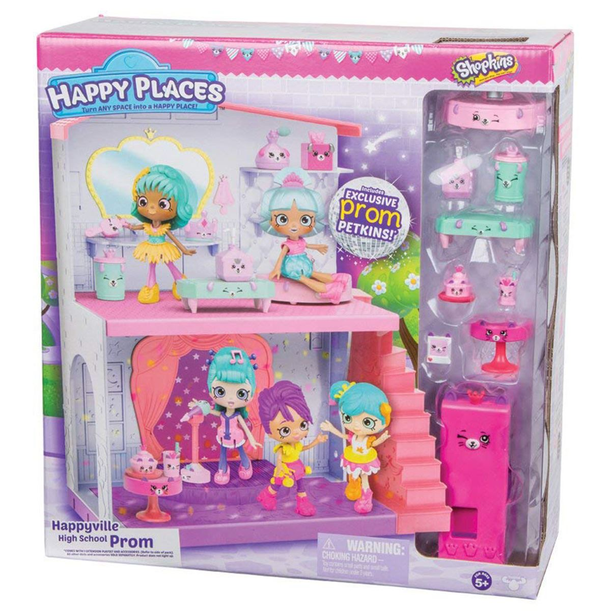 Details about Shopkins Happy Places Happyville High School Prom Playset Toy  House For Ages 5+