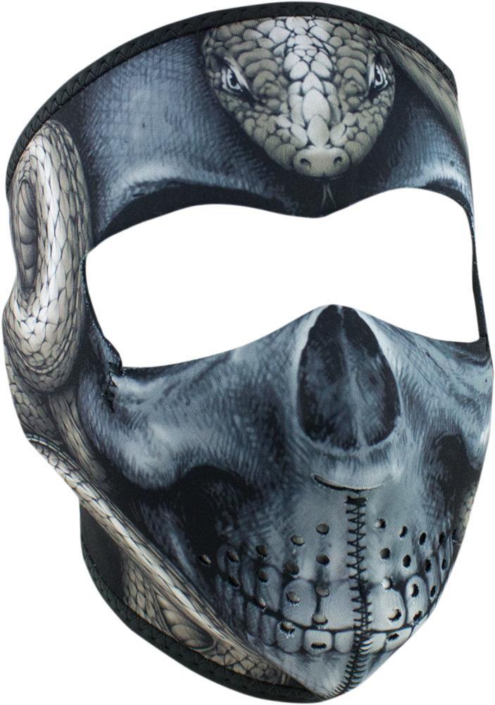 Half Face Mask Zan Headgear Burning Skull WNFM061H
