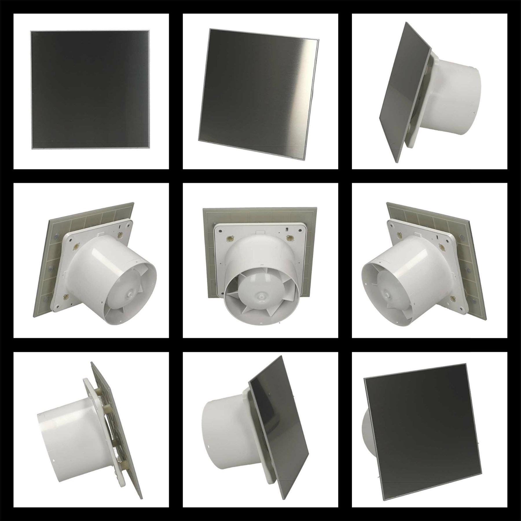 salle de bains cuisine mur ventilateur extracteur d 39 air panneau acier inoxydable ebay. Black Bedroom Furniture Sets. Home Design Ideas