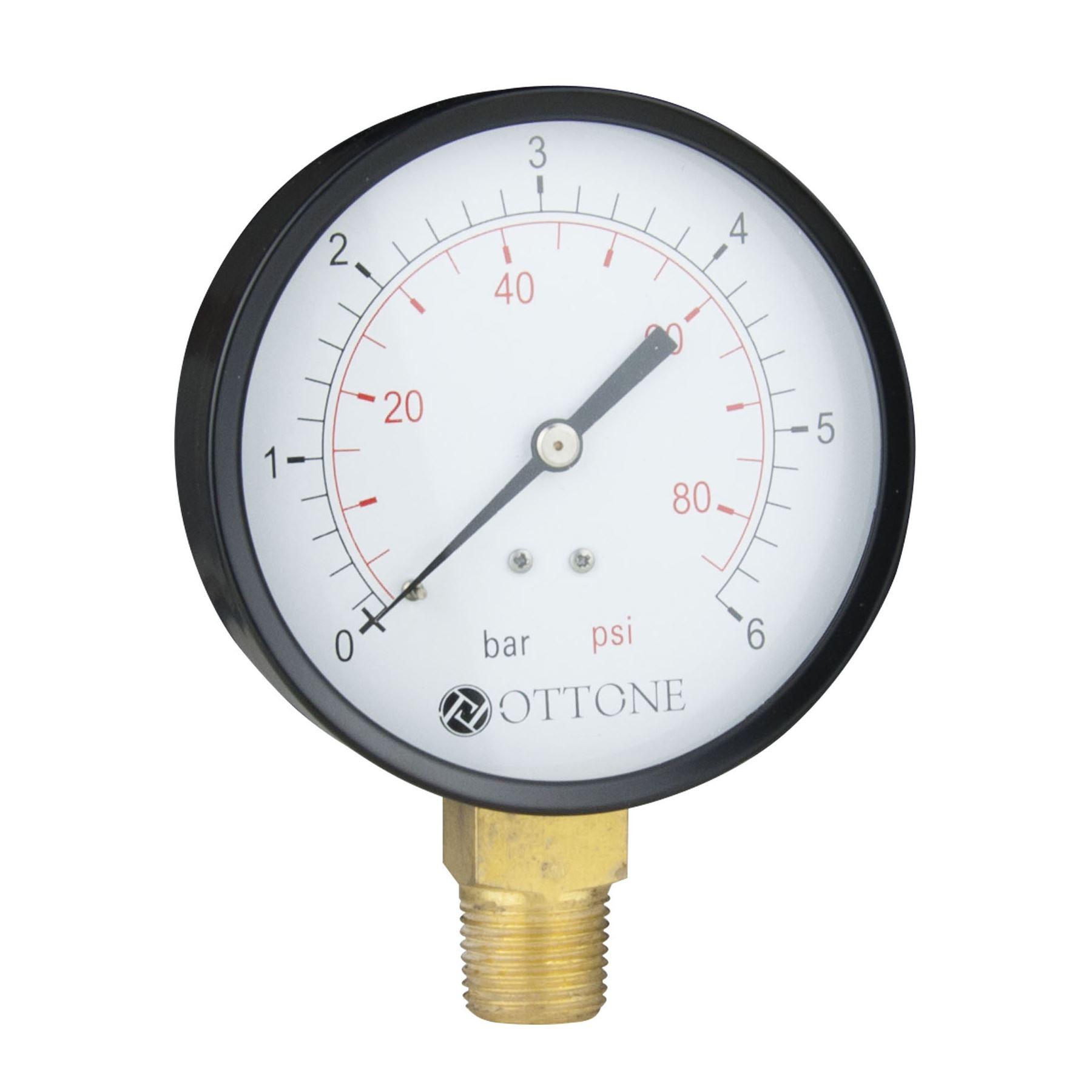 100mm 0 10 bar pressure gauge air oil water meter 1 2 bspt side entry manometer ebay. Black Bedroom Furniture Sets. Home Design Ideas