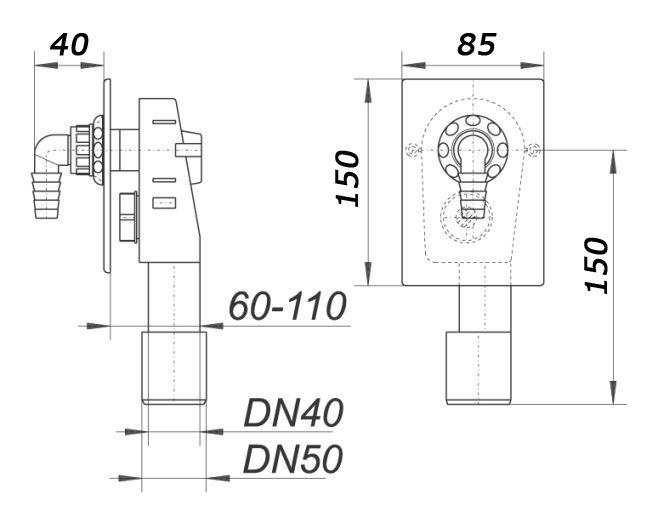 verdeckte waschmaschine abflussrohr siphon kit selbst. Black Bedroom Furniture Sets. Home Design Ideas