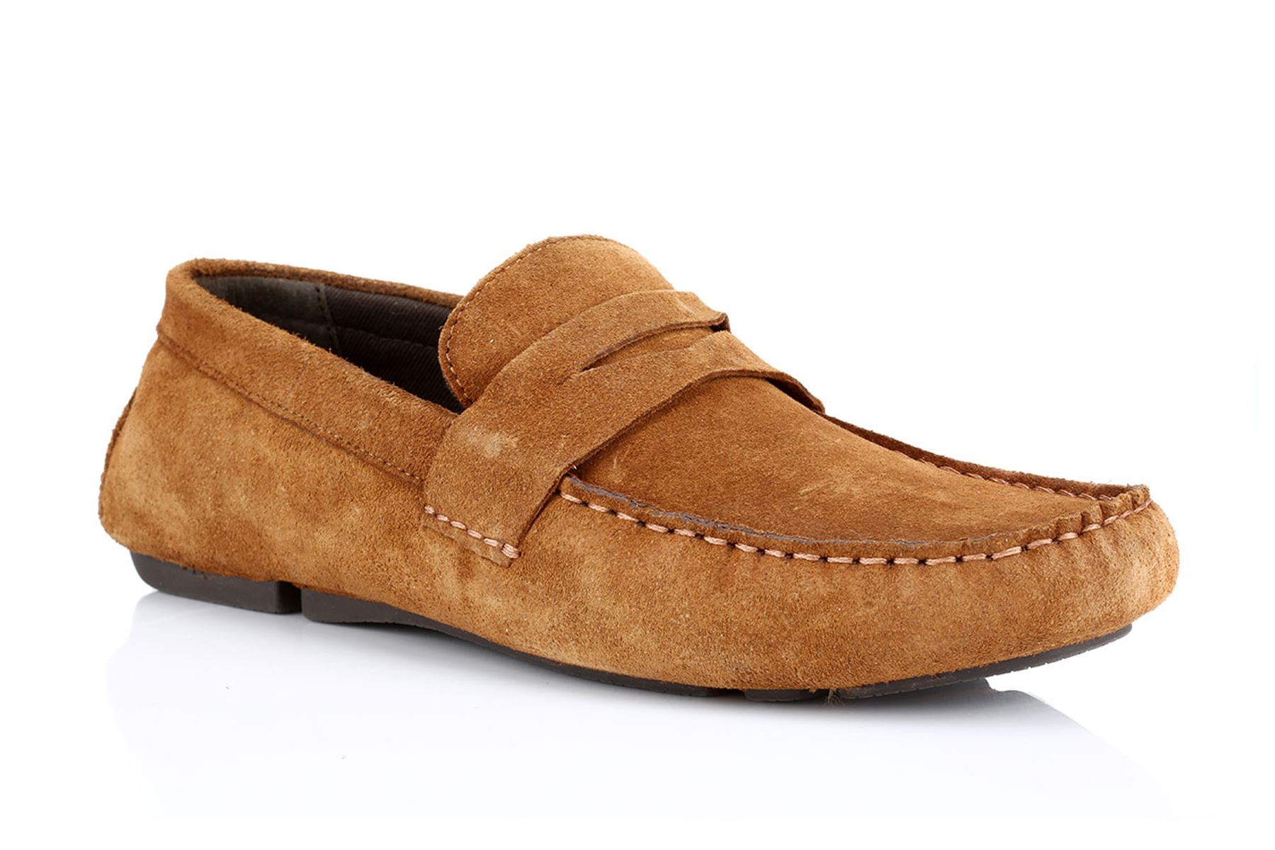 fc5833b16c8 Details about Red Tape Cranfield Suede Mens Casual Driving Shoes Tan Brown  Leather