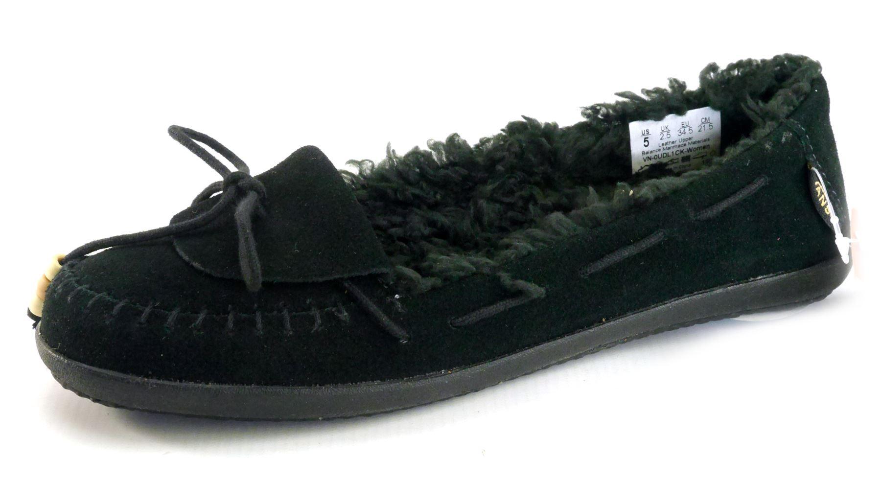 278216ea906b Details about Vans Ladies Black Fleece Casual Pumps Warm Shoes Black