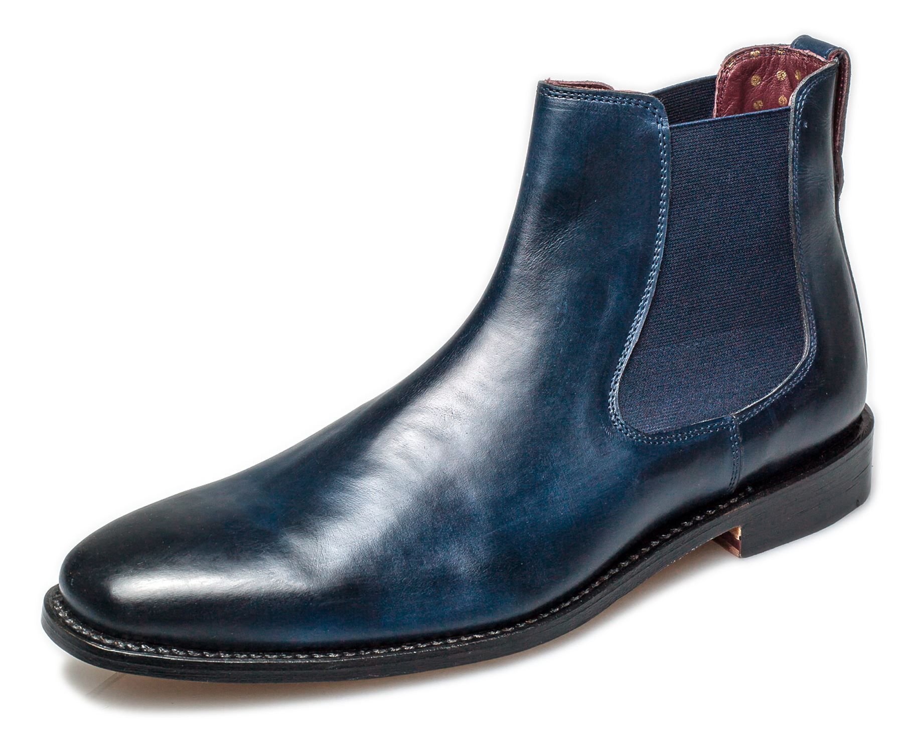bb0dc805a09 Details about London Brogues Harvey Mens Leather Sole Chelsea Boots Navy