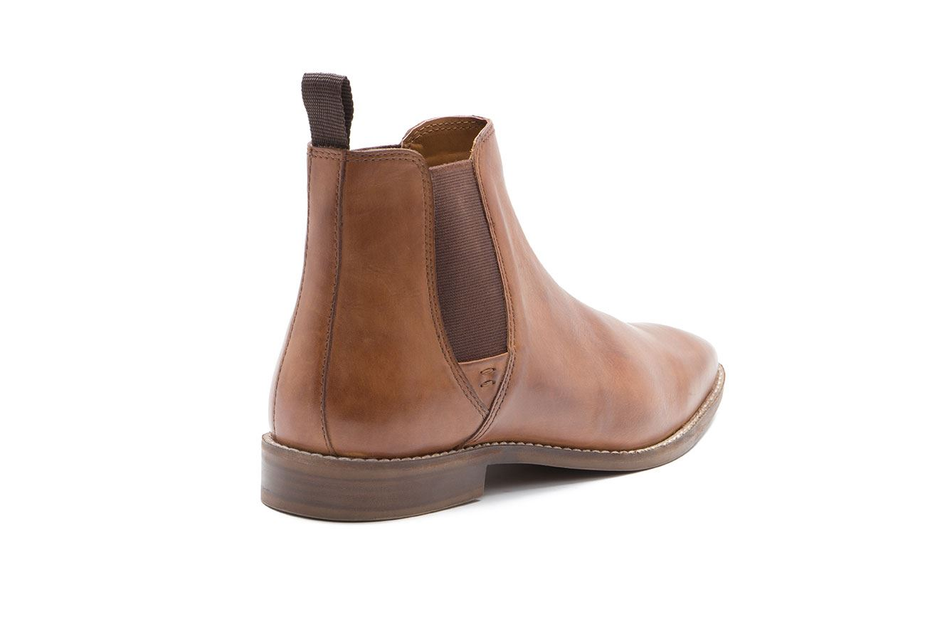 Pull Tapton Boots cuero Tan hombre Tape Up para Chelsea Red de 5ACqPwYY