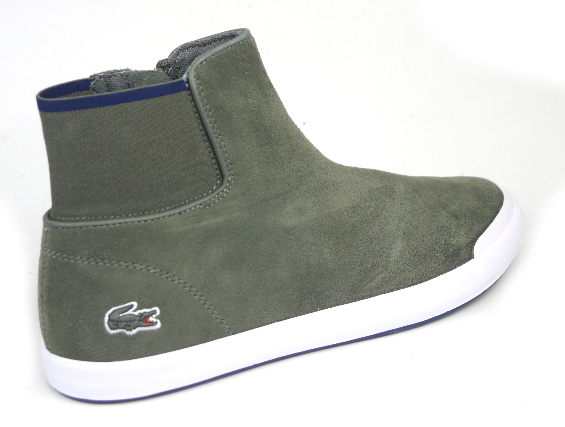 a51f8f1eb06ee3 Brand new model of boots from Lacoste. The upper part is created from  genuine suede leather and protects from cold weather. The lining is made of  textile.
