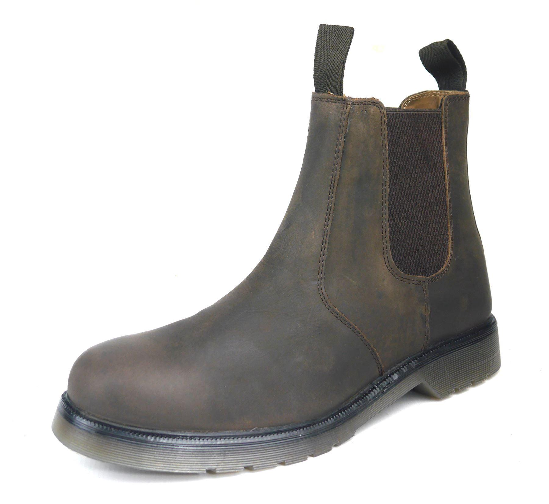 pelle Goodwood Chelsea Uomo Chocolate marrone Boots Airsole in James Frank Dealer wAqpIw