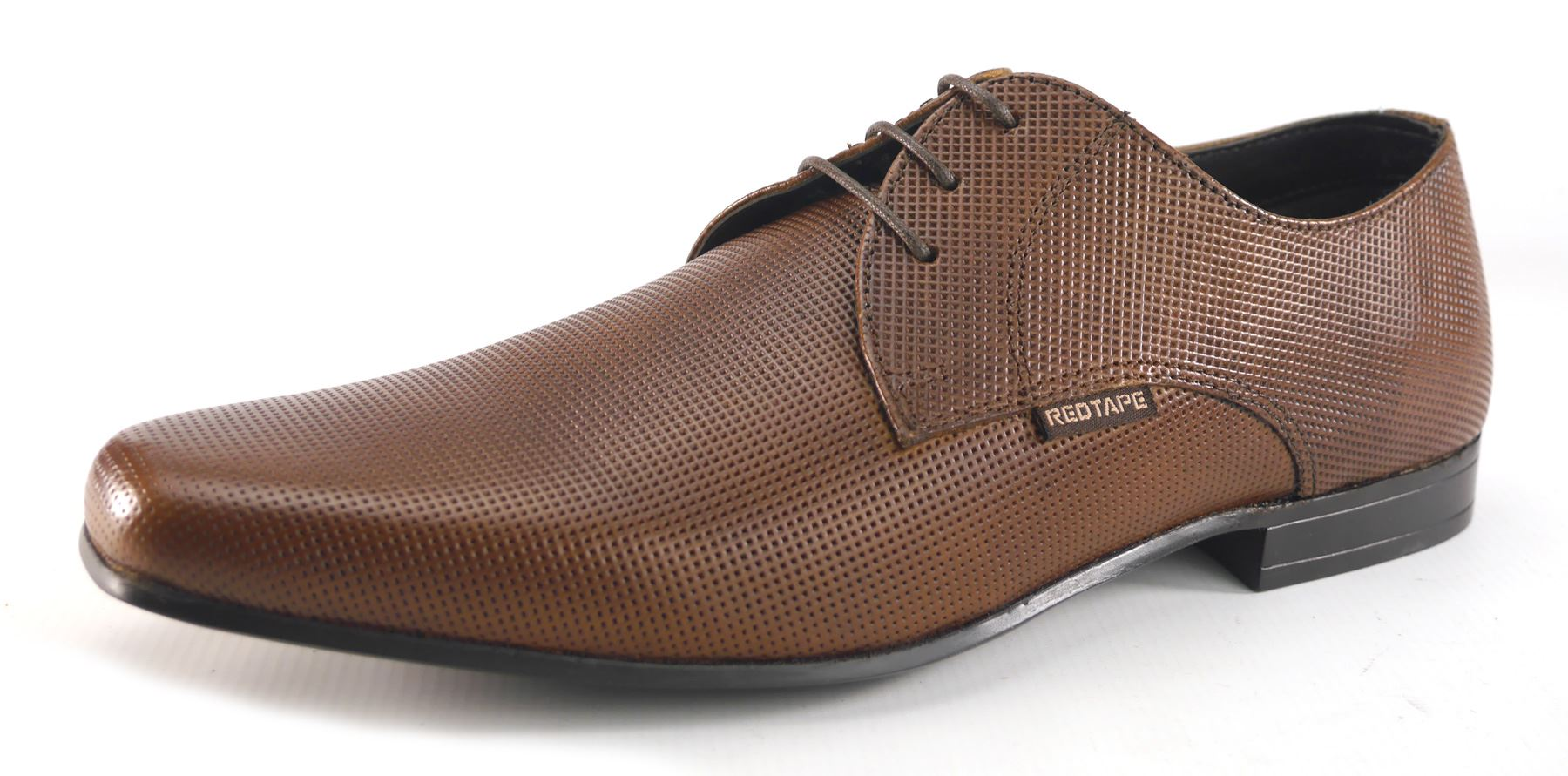 Red Tape Mens Formal Casual Tan Pointy Leather Lace Up Shoes Tan